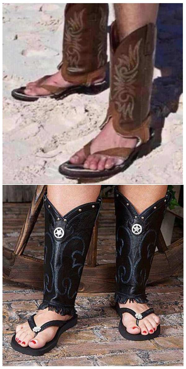 Cowboy Boots Sandals For Men And Women Yes Sire That Is
