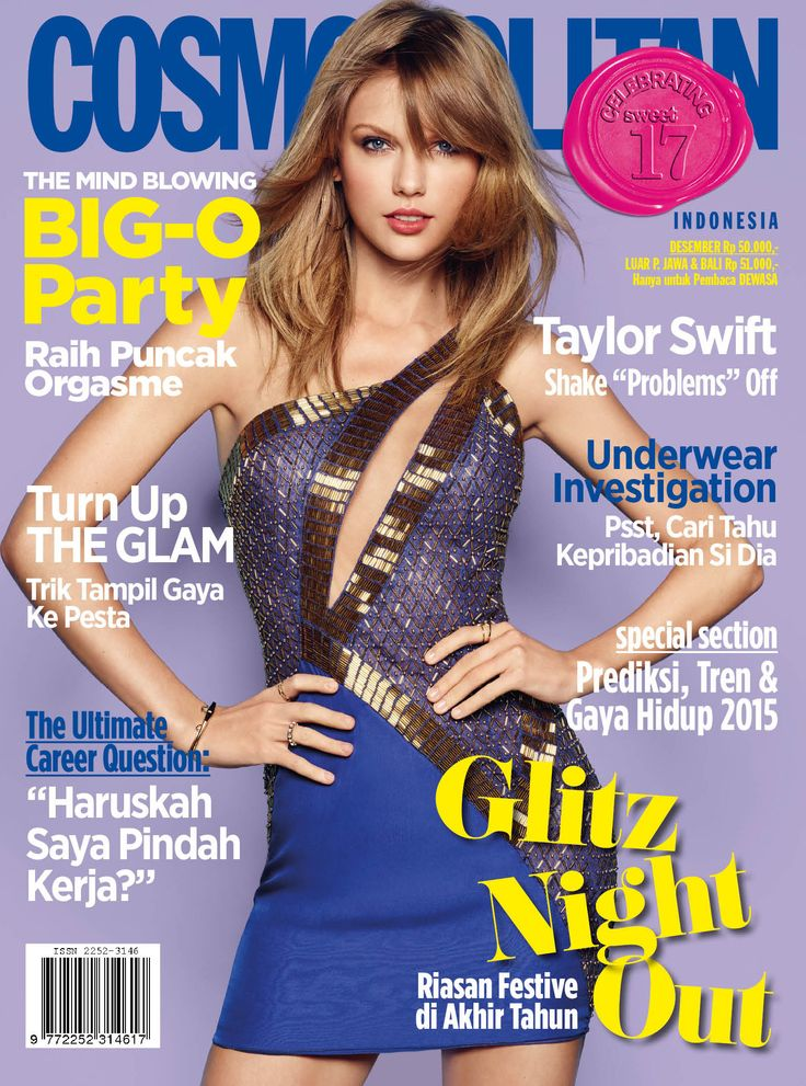 Taylor Swift is going Glitz on #CosmoIndonesia December 2014 issue.