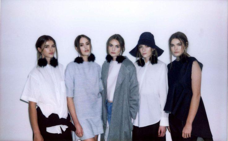 Nicole, Rosie, Juliet, Irene & Izzy ♥ Battenberg AW14 show