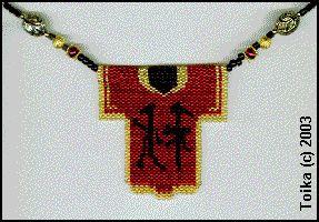 Fall Kimono Necklace/Pin Pattern at Sova-Enterprises.com