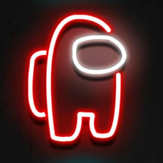 Among Neon Sign Neon Sign Decor Neon Light Decor Neon Sign Light In 2021 Neon Signs Neon Cool Neon Signs