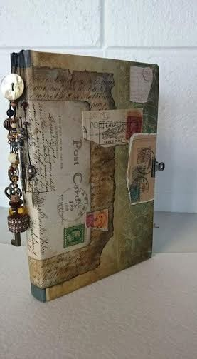 Hey, I found this really awesome Etsy listing at https://www.etsy.com/listing/247137095/mixed-media-handmade-journal-vintage