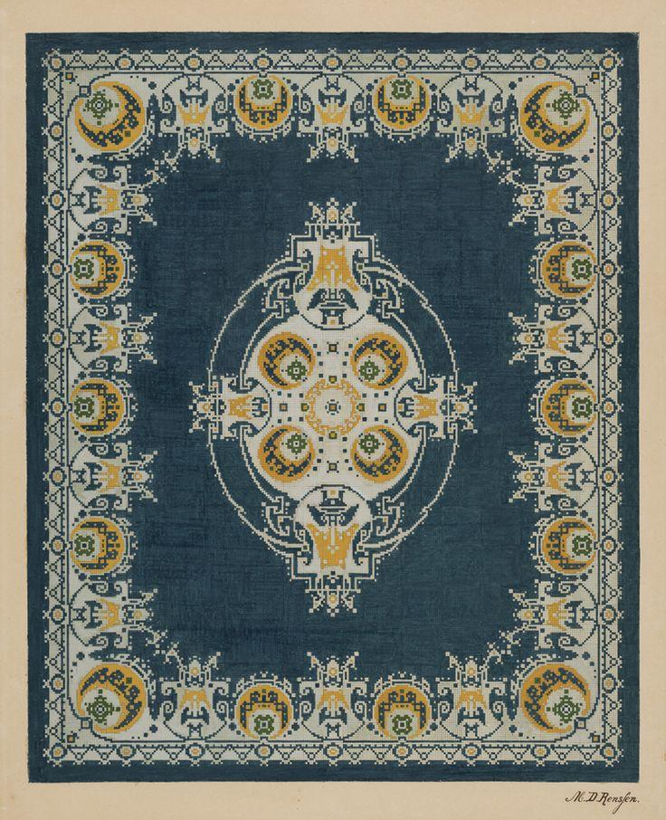 Superior Carpet Design By M.D. Renssen, 1903 / 1914. Deventer Musea, CC BY