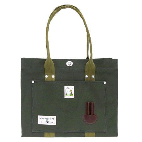 【ムーミン】犬印鞄 純綿帆布トートバッグ中(GR)