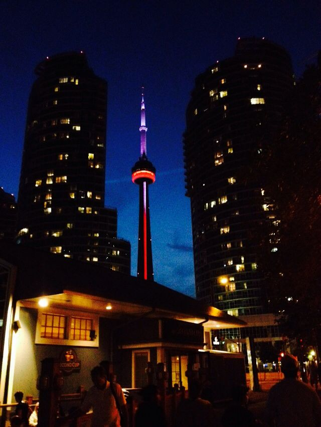 CN tower n'y night #toronto