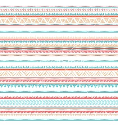 Tribal vintage retro chevron seamless pattern vector  by transia on VectorStock®