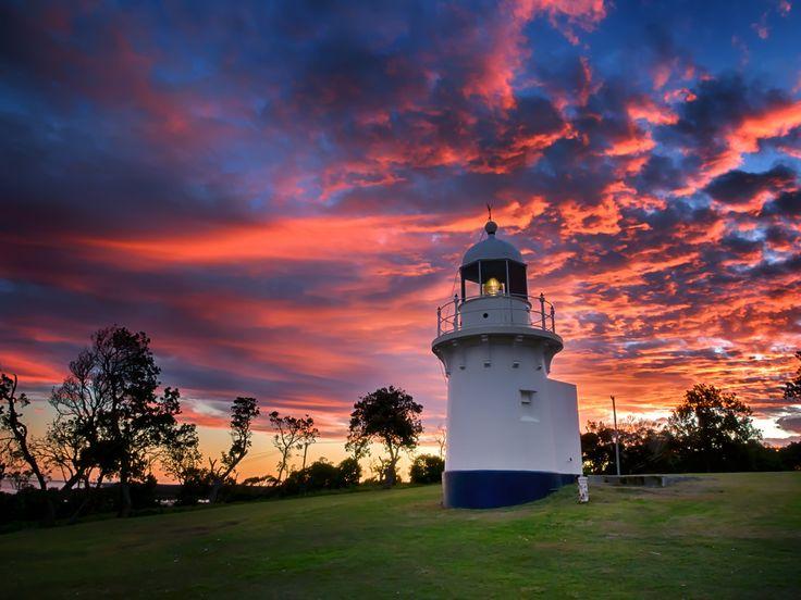 The Little Lighthouse - Overlooking Lighthouse Beach , Ballina , NSW , Australia.