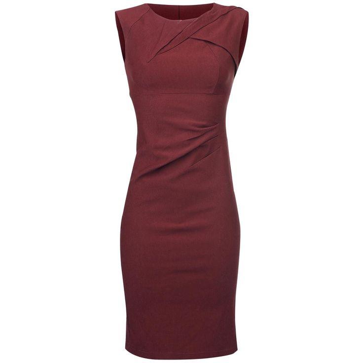 """- nauwsluitend - getailleerd - mouwloos - rits in de achterkant - split in de achterkrant - lengte: ongeveer 105 cm  Voodoo Vixen is voor de dames die graag de glamour van de jaren 50 en 60 terug willen zien. De rode """"Claudette"""" jurk van Voodoo Vixen is nauwsluitend en voelt aan als een tweede huid. Laat jou figuur schitteren in de """"Claudette"""" jurk en breng de Vixen in jou naar boven!"""