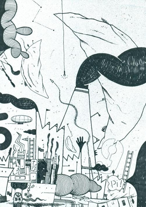 Dibujo expansivo C01-02-2012. tinta sobre papel obra 90 grs. Fto. A4.