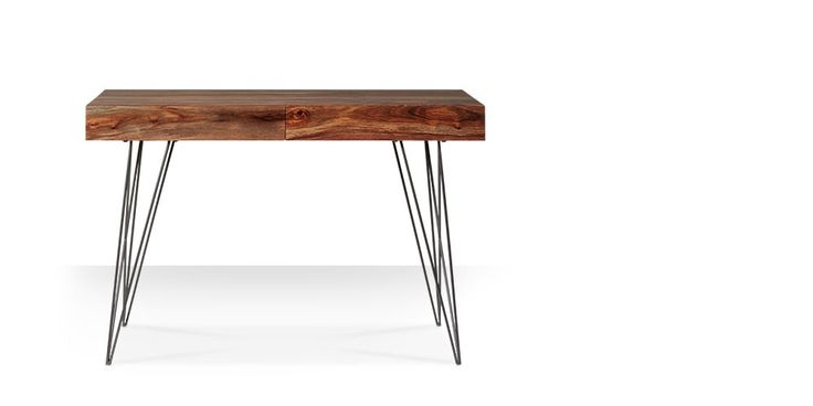 Swoon Editions Desk, contemporary style in rosewood - £229