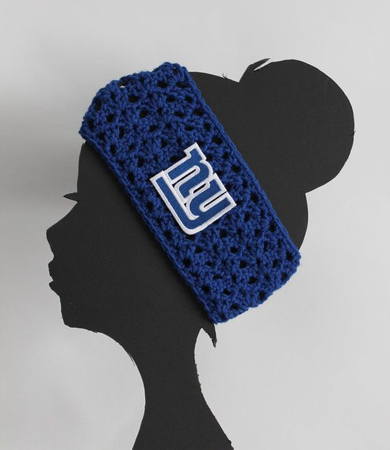 New York Giants NFL Headband by ThatGirlsCrafts on Etsy, $17.00