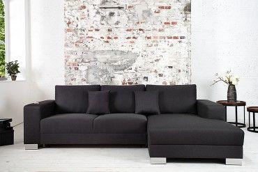 Design Ecksofa COSI mit Schlaffunktion Dunkelgrau von CANDY Lifestyle