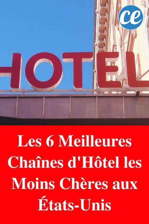 Les 6 Meilleures Chaînes d'Hôtel les Moins Chères aux États-Unis.