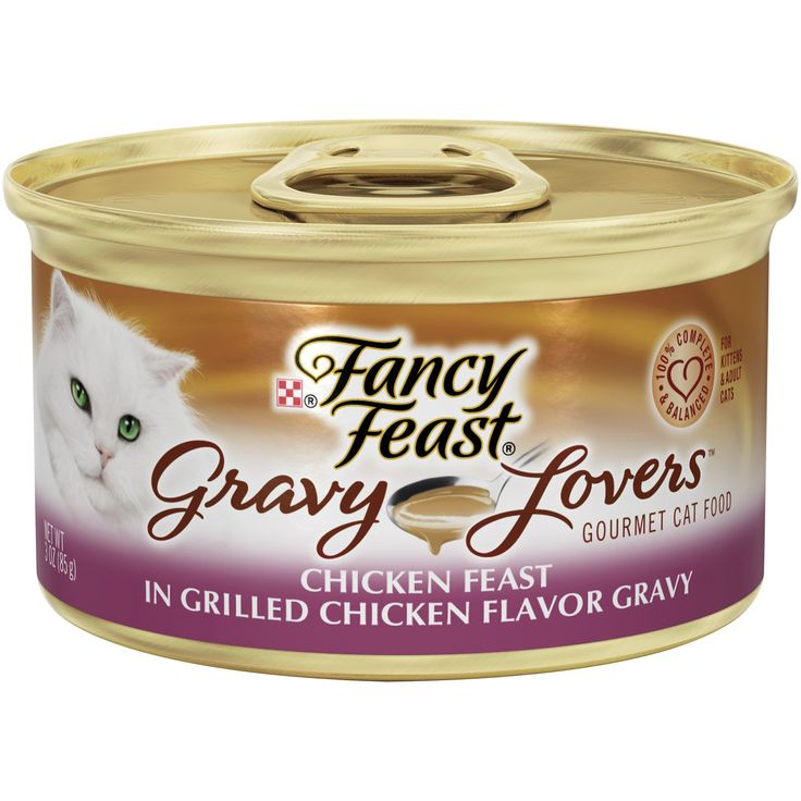 Fancy+Feast+Gravy+Lovers+Chicken+Feast+In+Grilled+Chicken+Flavor+Gravy+Gourmet+Cat+Food+-+Case+of+24,+3+oz.+cans.+100%+Balanced+nutrition+for+adult+cats. - http://www.petco.com/shop/en/petcostore/product/fancy-feast-gravy-lovers-chicken-feast-in-grilled-chicken-flavor-gravy-gourmet-cat-food