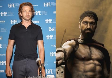 12 Extreme Celebrity Fitness Transformations - Gerard Butler