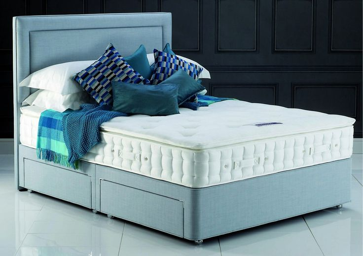 Hypnos Pillow Top Pearl Euro King Size Divan Bed for £1,280.00