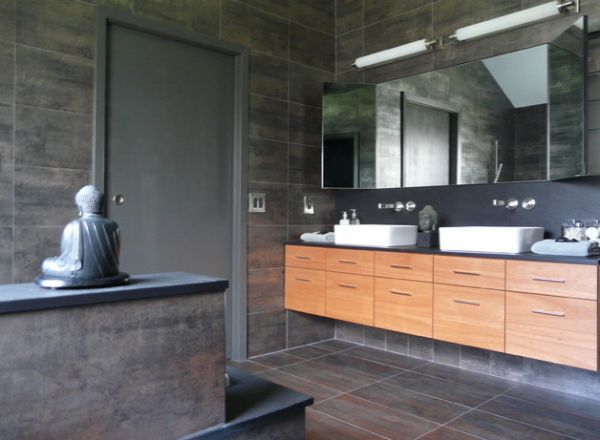 Asian bathroom design with a peaceful and soothing effect