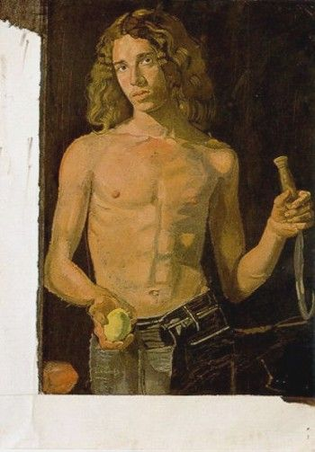 "Dominic as ""Summer"" (unfinished), Villeneuve-les-Sablons, 1975 by Yannis Tsarouchis."