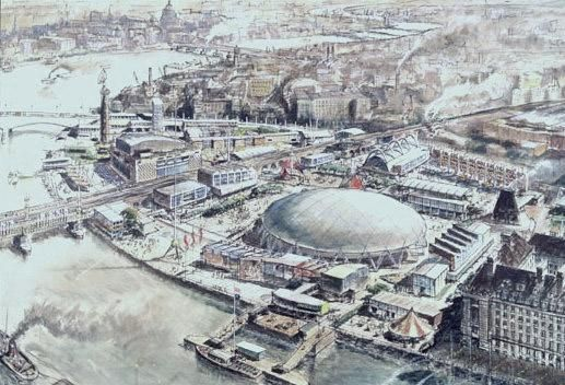 SIR HUGH CASSON CH PRA (1910-1999) - Proposal for the Festival of Britain site, the South Bank, 1951 (England, 1951)