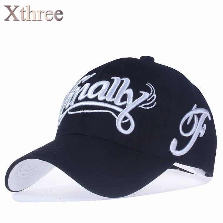 [Xthree] 100%コットン野球帽女性カジュアルsnapback帽子用男性キャスケットhomme文字刺繍gorras