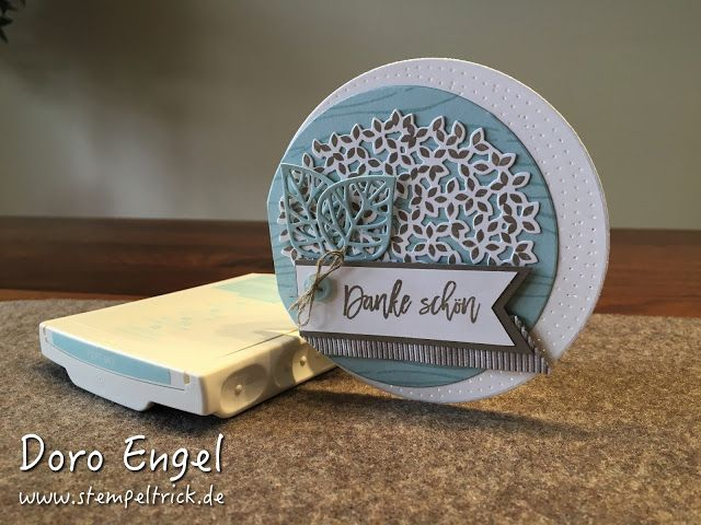 Circle cards are so much fun and this lovely card featuring the Thoughtful Branches stamp set and thinlits is just adorable! #thoughtfulbranches #stampinup