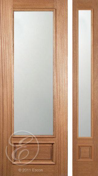 Excellent Eastham 3/4 Lite, Panel Bottom U2013 8/0 Sandblasted Dual Glazed. Exterior  Doors