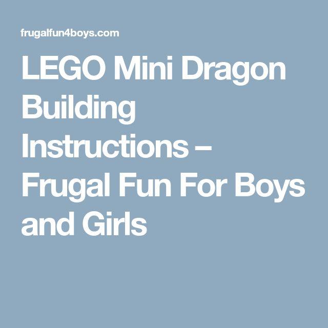 LEGO Mini Dragon Building Instructions – Frugal Fun For Boys and Girls
