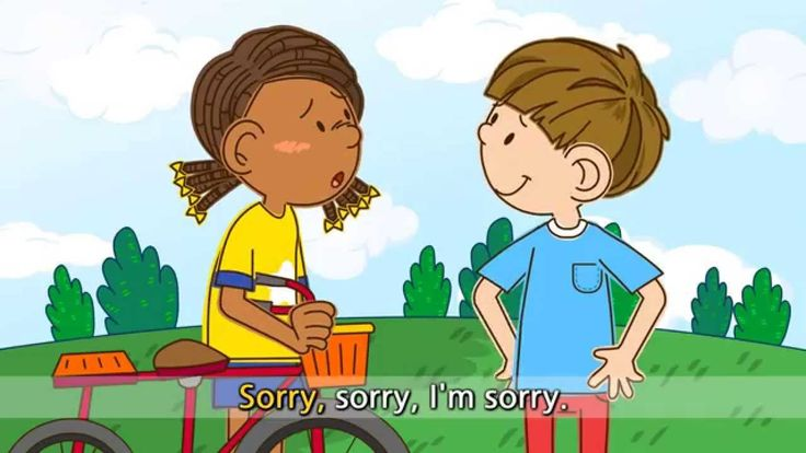 I'm sorry. - Watch out! - English song for Kids - Let's sing (Listen and...