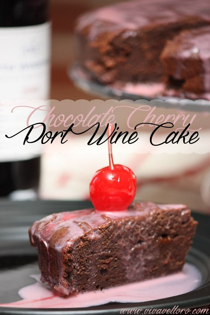 Chocolate Cherry Port Wine Cake - thick and rich like a molten lava cake, but a bit sweeter!
