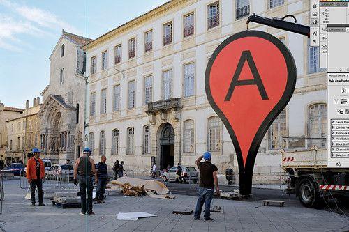 """map"" - public installation, aram bartholl"
