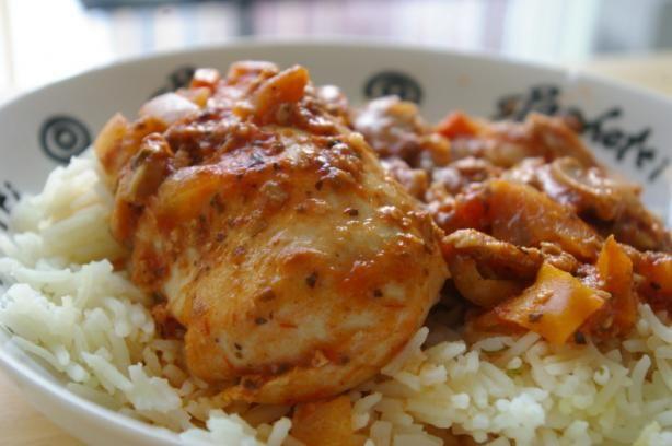 Slow Cooker Chicken Cacciatore it's what's for dinner!! Monica Perdue, Personal Chef, Bon Vivant