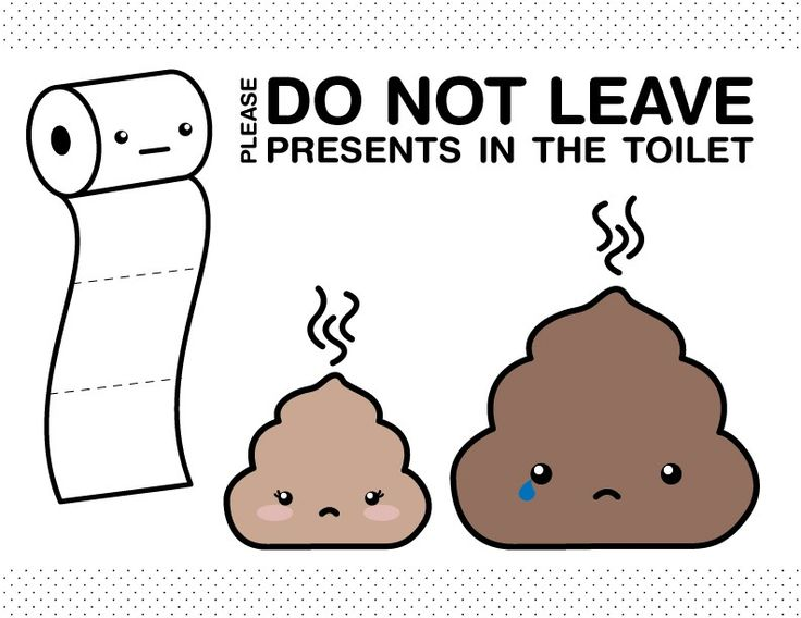 Bathroom sign stinky poop print for roommates cleaning