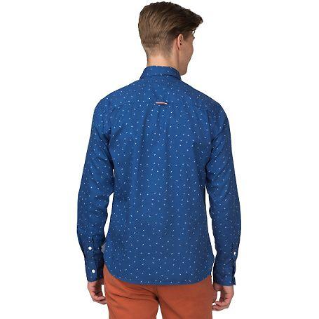 Hilfiger Denim Sheridon Cotton Twill Shirt - monaco blue-pt (Blue) - Hilfiger Denim Shirts - detail image 1