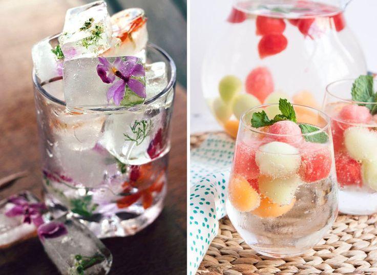 11 sätt att smaksätta isbitar