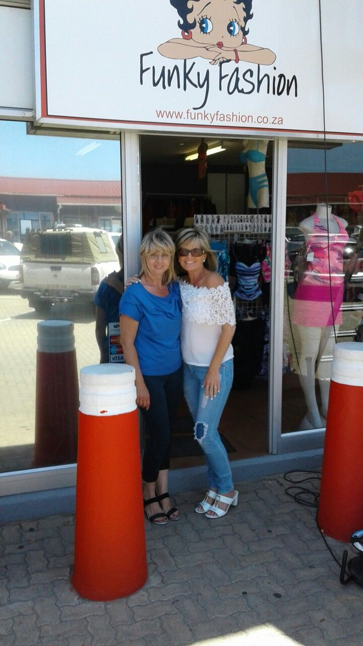 Me and Andorette Smit owner of Funky fashions Mosselbaai 12/12/2017