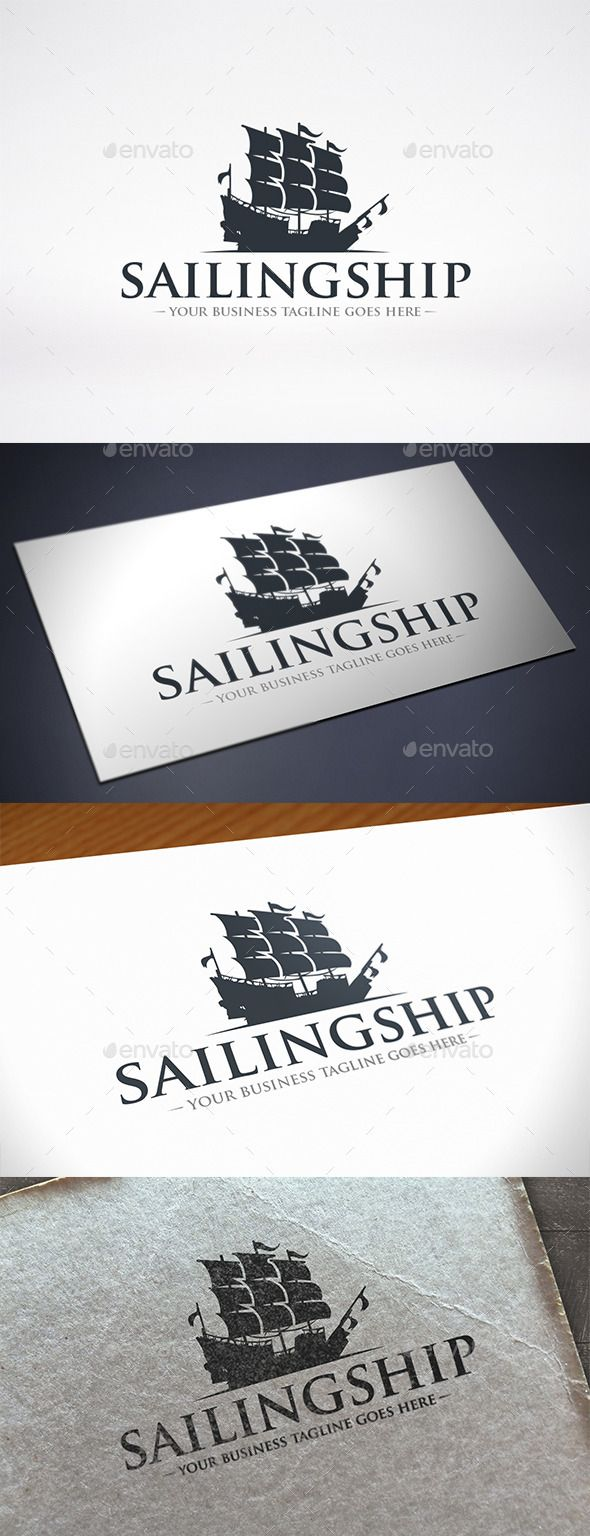 Sailing Ship Logo Template — Vector EPS #vector #luxury • Available here → https://graphicriver.net/item/sailing-ship-logo-template/11550649?ref=pxcr