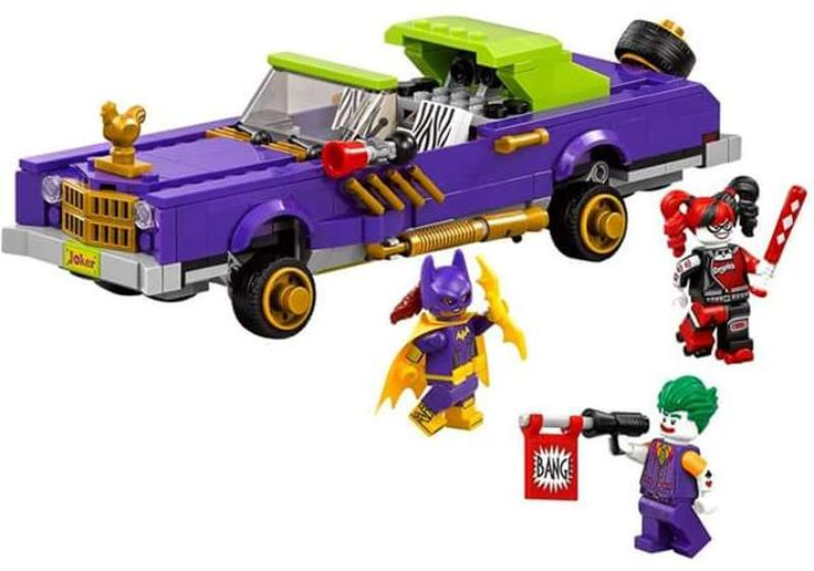LEGO has just published images of two sets that will be released next year to tie in with The LEGO Batman Movie: The Batmobile and Joker's Notorious Lowrider.