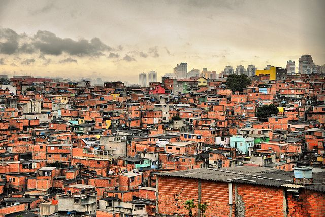 Favelas in Sao Paulo, Brazil. Some day I want to go back there and help.
