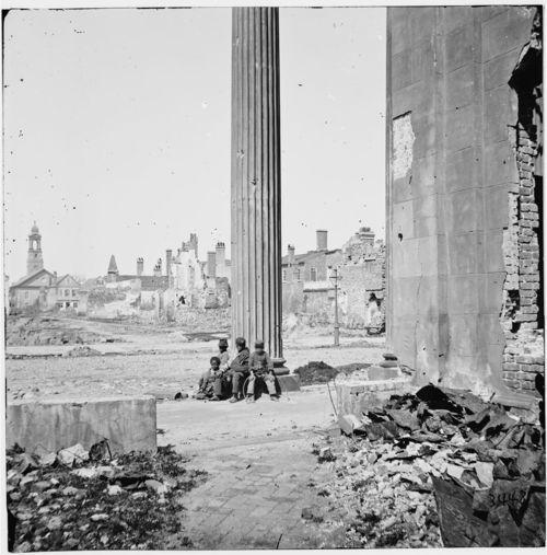 """Ruins of Charleston, 1865    Ruins of Circular Church on Meeting Street in Charleston, SC."""