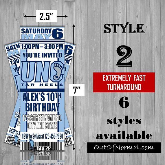 UNC University of North Carolina Tar Heels Themed Birthday
