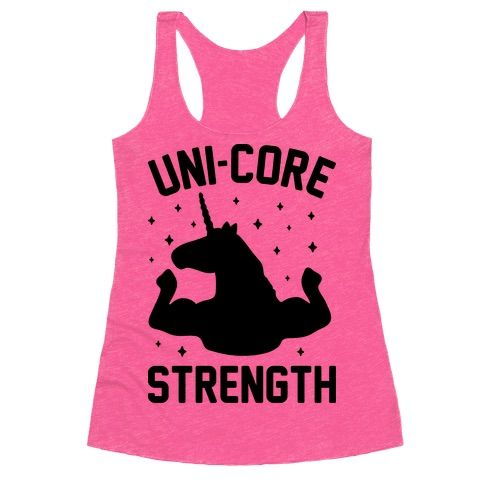 Your core strength is so magical it could be described as Uni-Core Strength. Show off your gains at the gym with this majestic unicorn fitness design featuring a swole unicorn flexing! Perfect for a gym workout, funny workout, making gains, strength training, funny fitness, fitness humor, and working on your core!