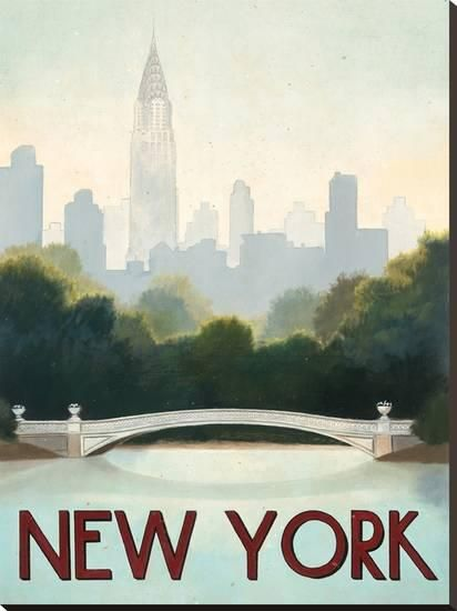New York Stretched Canvas Print by Marco Fabiano at Art.com