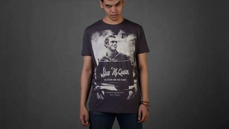 Steve McQueen    Size Available from S to XL  for further information you can contact us :  email : holmes_tshirt@hotmail.com  twitter : @Holmes_TShirt  web : www.holmestshirt.com
