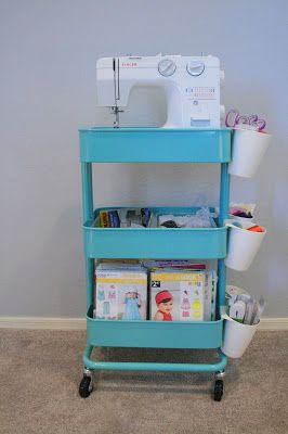 Chilly Cactus Crafts: Create A Sewing Cart With IKEAu0027s RÅSKOG Utility Cart