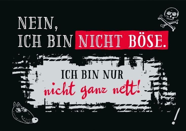 Nicht ganz nett | Statements | Echte Postkarten online versenden | Gutsch Verlag