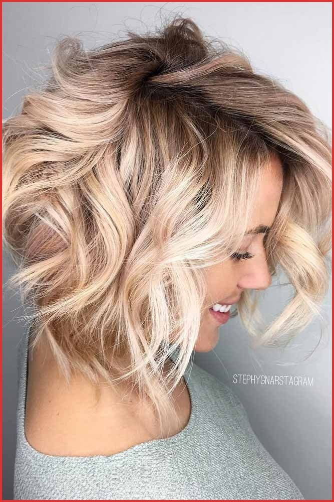 How To Make Short Hair Look Longer 148819 15 Trendy Hairstyles For Long Faces The Do Pinteres Messy Bob Hairstyles Champagne Hair Short Hair Balayage
