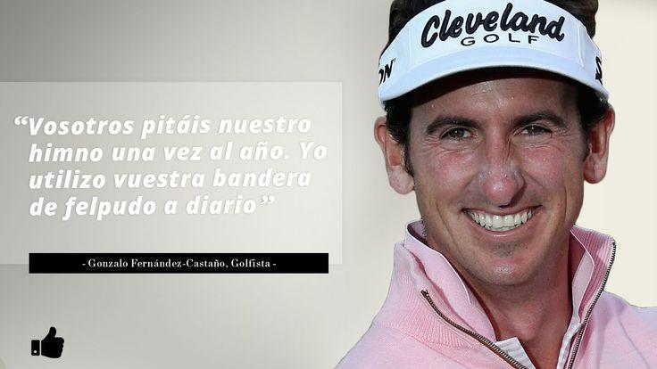 El pasado 27 de mayo, durante la disputa de la final de la Copa del Rey entre el Alavés y el Barcelona, el golfista Gonzalo Fernández Castaño publicó un tuit en el que aparecía la bandera estelada como felpudo de su casa.