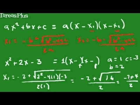Factorización de un trinomio ax^2+bx+c