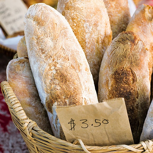 Best fresh made local bread at the Saturday Market.