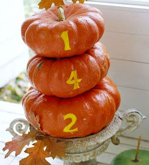 .: Fall Decoration, Holiday, Ideas, Pumpkins, Fall Decorating, House Numbers, Halloween